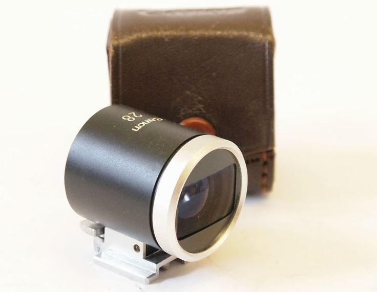 "Canon 28mm Viewfinder for Rangefinder cameras ""Rare"" with Case.  