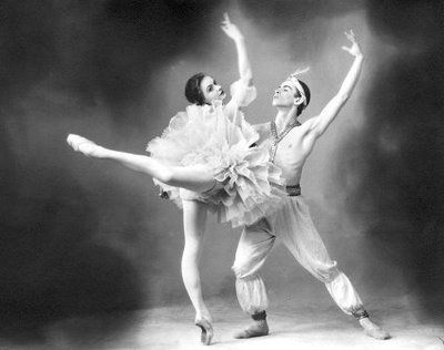 Nureyev dancing Le Corsaire with Alla Sizova. From the collection of Sergei Sorokin.