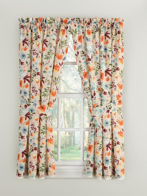 The Pioneer Woman Willow Window Curtain Panel 40 W X 54 L Set Of 2 Multiple Sizes Walmart Com In 2020 Panel Curtains Curtains Window Curtains