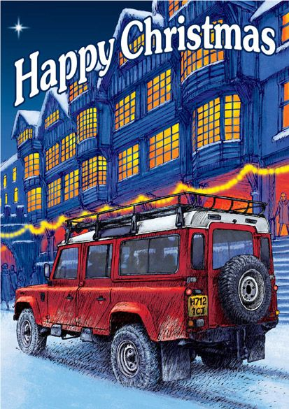 Land Rover Defender happy Christmas.