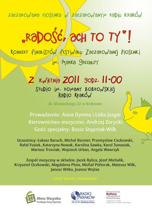 """""""Radość, ach to Ty"""" -  #koncert z cyklu """"Zaczarowane Radio Kraków"""" 2011 /@RadioKrakow"""