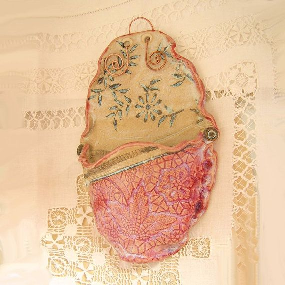 Wall Mounted Cell Phone Charging Station by PorcelainJazz on Etsy