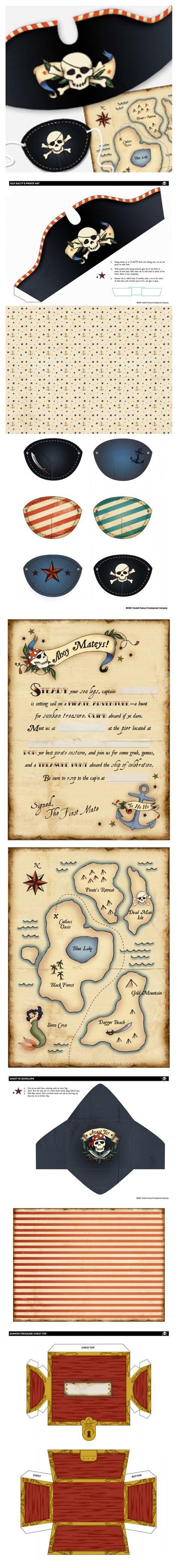 Anniversaires pirates - Free printables
