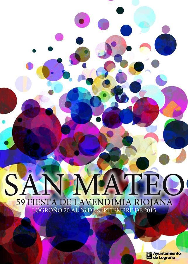 Los cinco carteles finalistas de las fiestas de San Mateo 2015