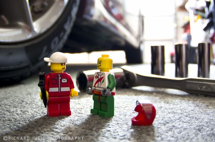 Race Day - Lego macro photography series by Richard Julio Photography