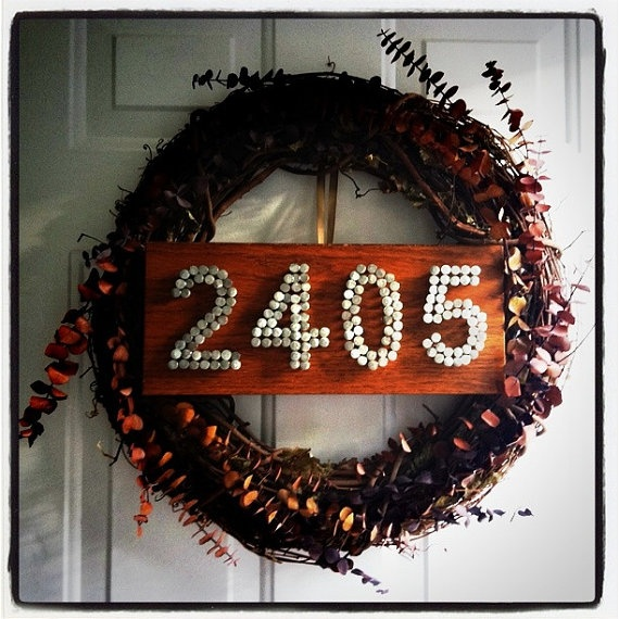 Wood and Nails House Number: Crafts Ideas, Unique Ideas, Numbers Ideas, Wreaths Ideas