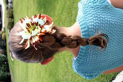 Triple-Twist Ponytail and more Hairstyles from CuteGirlsHairstyles.com