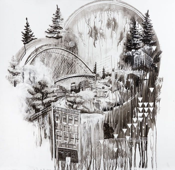 Amazing whiteboard drawings by artist Gregory Euclide.