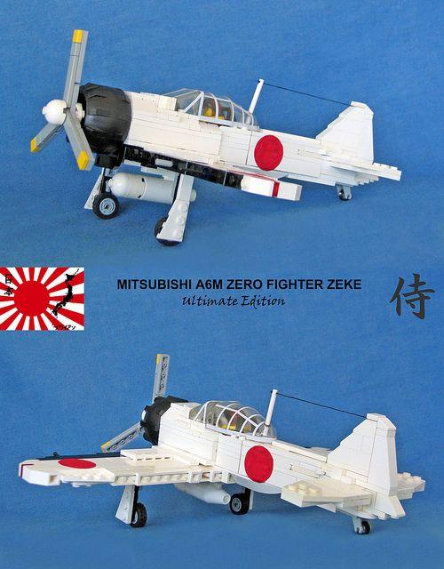 """Mitsubishi A6M Zero Fighter """"Ultimate Edition"""" #flickr #LEGO #plane"""