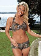 Mossy Oak Camouflage Halter Bikini & Boyshort - Swimwear