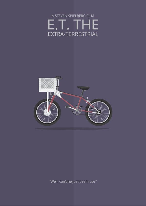 E.T. the Extra-Terrestrial (1982) ~ Minimal Movie Poster by George Townley #amusementphile