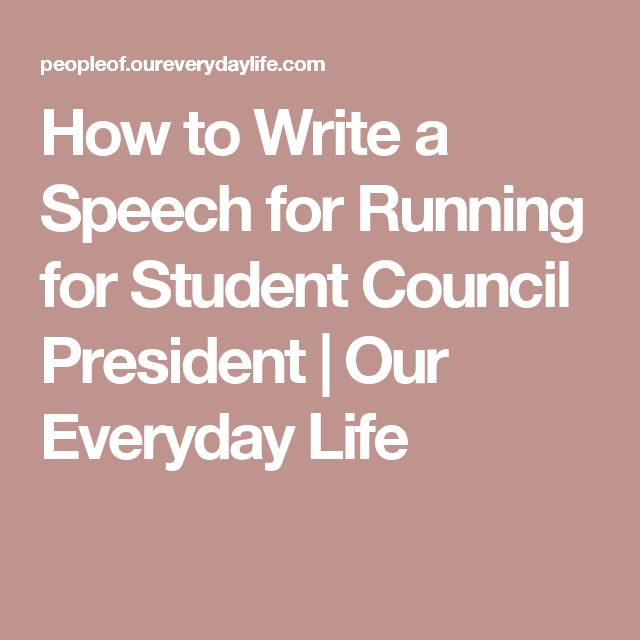 how to write a speech for student council Oh, and i vote you student council, that was a wonderful speech oh, and you said you'd do anything please give me story ideas and help me out on that story, thanks.