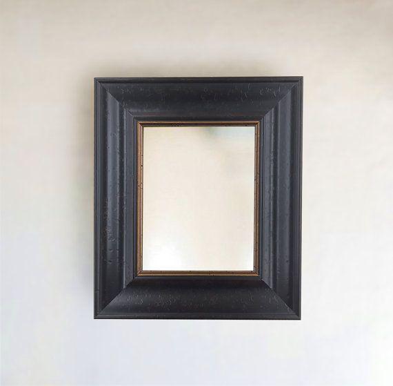 Rustic Thick Dark Wood Distressed Framed Wall Mirror Inside Etsy Frames On Wall Frame Dark Wood