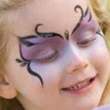 SPARKLE BUTTERFLY face painting for girl - Kids Craft - Kids FACE PAINTING