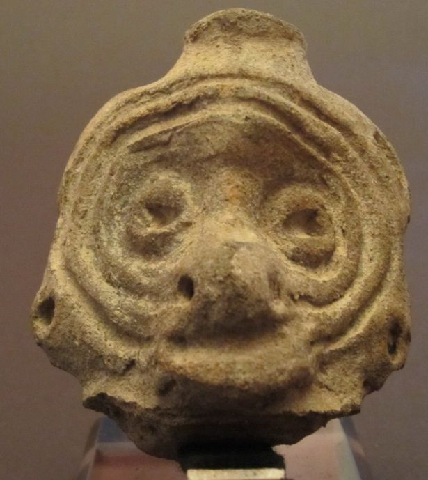 Taino clay head: