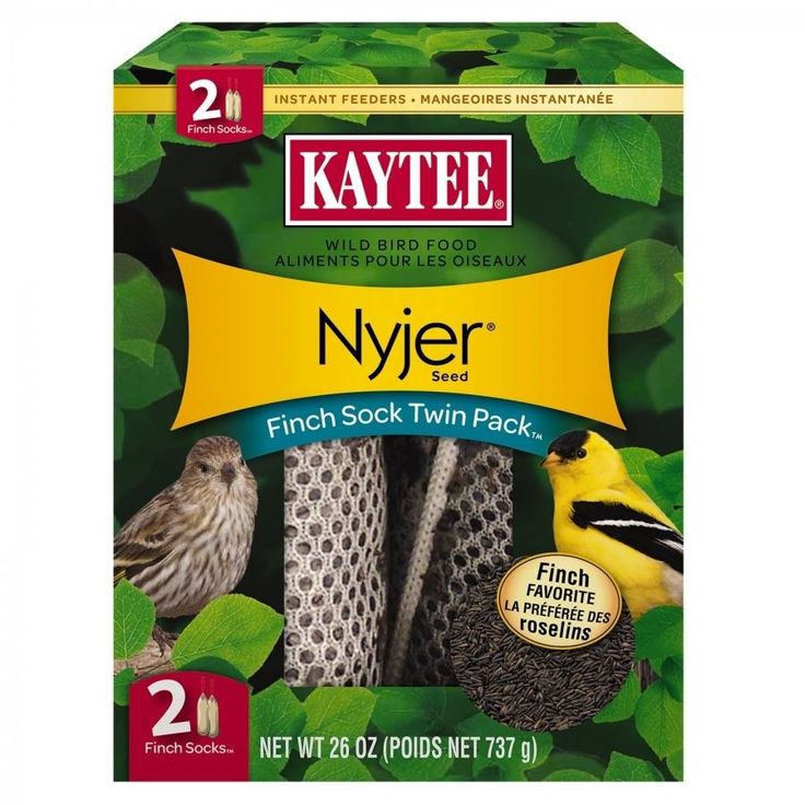 Kaytee Nyjer Seed Finch Sock makes attracting and feeding finches easier than ever! Finches adore soft mesh socks and prefer them over traditional tube feeders.