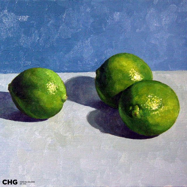 'Limes' | Bruce Rowland  is a #CHG  #painter focused on the figurative - nude and semi nude, still life and interiors. Browse and buy #art: http://goo.gl/Uv6Nev #australianart