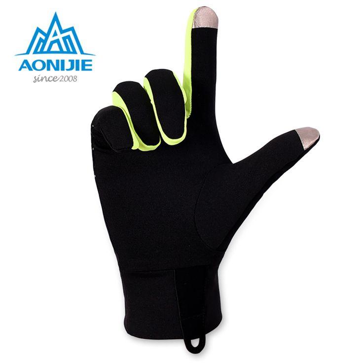 AONIJIE Outdoor Sports Gloves Men Women Warm Windproof Cycling Hiking Climbing Running Ski Full Finger Screen Gloves