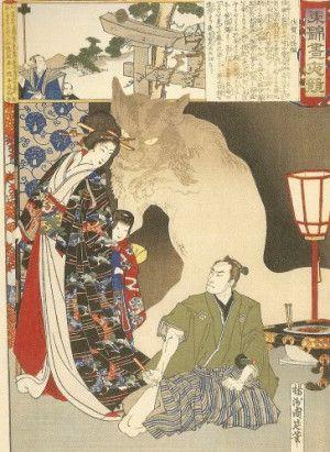 Le « Bakeneko » (化け猫) est une légende du folklore japonais transmise oralement qui serait à l'origine du bobtail japonais. C'est un chat ayant des pouvoirs surnaturels, de même que le « kitsune » (狐) ou le « tanuki » (狸), qu'il acquiert en atteignant l'une (ou plusieurs) de ces caractéristiques: un âge de treize ans, un poids de plus d'un « kan » (unité de poids japonaise qui correspond environ à 3,5 kg) ou une très longue queue. Il arrive parfois que celle-ci se divise en deux, faisant…