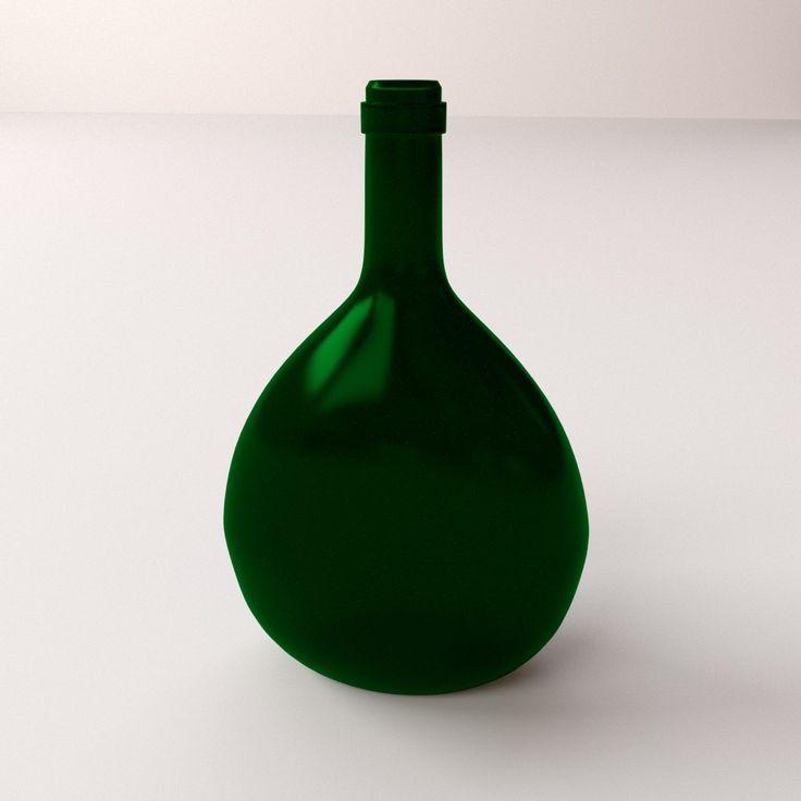 Bocksbeutel 3Ds - 3D Model