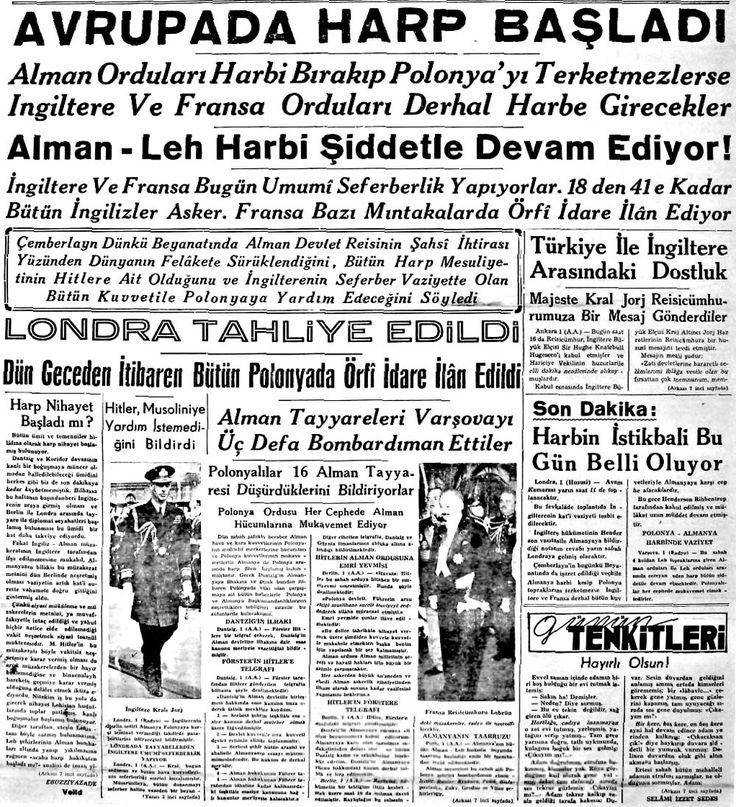 30 Gazete Kupürüyle Türk Basınının Gözünden Adım Adım İkinci Dünya Savaşı