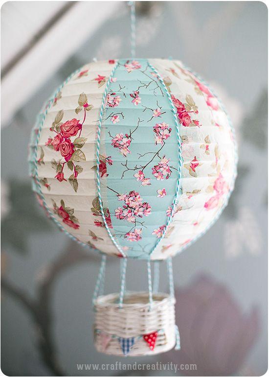 Paper lantern hot air balloons! Adorable!