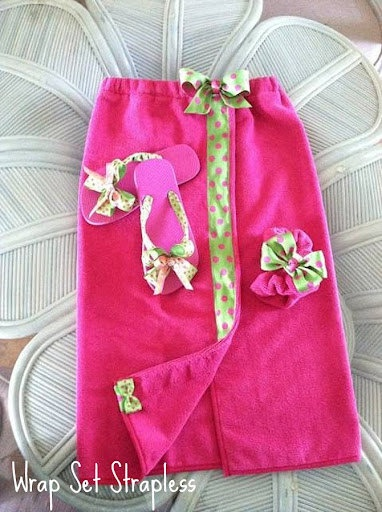 Child's Towel Wrap / Spa Wrap by creationsbyliany on Etsy, $28.00