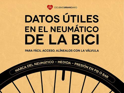 Los importantes datos que tiene el neumático de la bici — Ciclismo Urbano