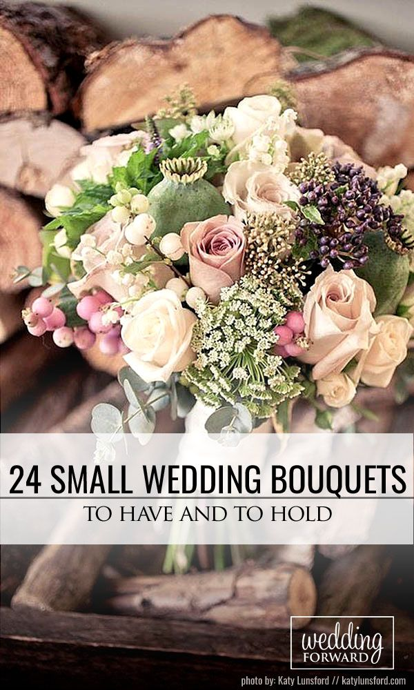 24 Prettiest Small Wedding Bouquets to Have and to Hold ❤ Small wedding bouquets are more comfortable for holding, it is not lock your stunning wedding dress. See more: http://www.weddingforward.com/small-wedding-bouquets/ #wedding #bouquets