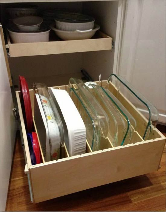 Вертикальное хранение форм для выпекания