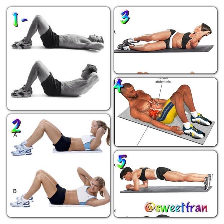 Abdominales #ejercicio #ejercicios #salud