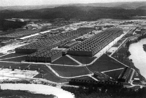 K-25 Plant (part of the Manhattan Project) was 4 stories high & almost 1/2 a mile long. 2 million square ft of space, making it the largest building in the world at the time of construction. AND NOONE KNEW IT WAS THERE