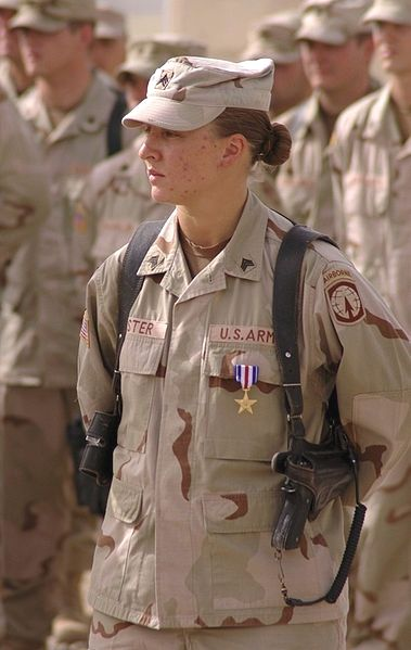 SGT Leigh Ann Hester Hester enlisted in the U.S. Army in April 2001 and is the first female U.S. Army soldier to receive the Silver Star for exceptional valor since World War II.