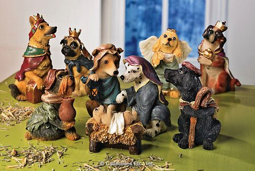 """This blog is titled 27 Worst Nativity Sets, but """"worst"""" is a subjective term. I applaud those who march to the beat of a different drummer, and especially those with a sense of humor. Good Dog Nativity."""