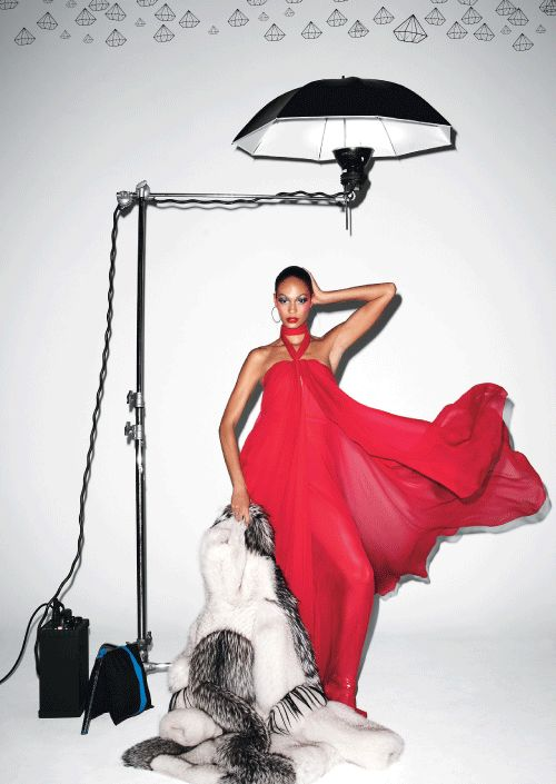 Joan Smalls for W Magazine. Photograph by Terry Richardson, styled by George Cortina, July 2011