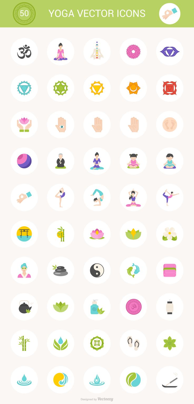 Free Download: 50 Yoga Icons (PSD, SVG, PNG, AI, EPS)