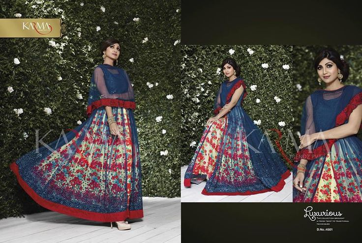 The Beauty Bollywood Girl #ShilpaShetty #Karma 4500 Series #DesignerCollection #WeddingSuit #PartyWearDress #FloorLength #Anarkali #Suit #Dresses #DressMaterials   #SawarKameez Available Online huge collection here (Catalog - st-shilpa-shetty-karma-4500s)