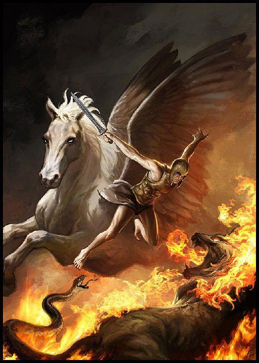 Bellerophon, Pegasus, and the Chimera