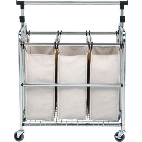 Seville Classics® Laundry Sorter II with Adjustable Hanger Bar