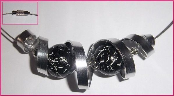 tutoriel collier en fil aluminium plat 5mm - Les créations Elara