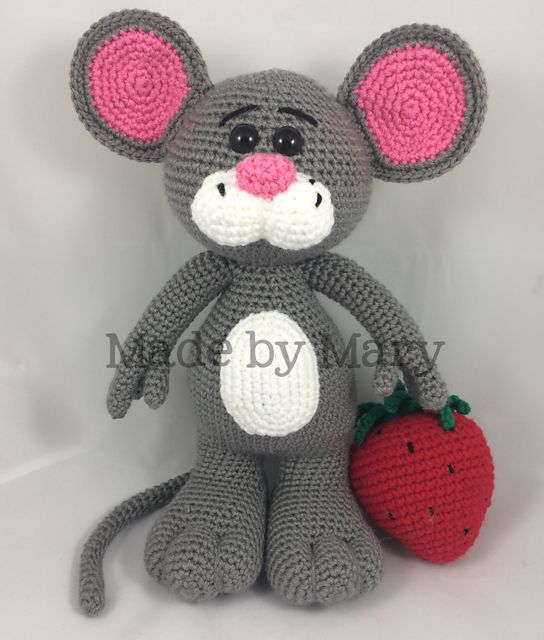 Ravelry: Mouse with Strawberry Amigurumi pattern by Mary Smith