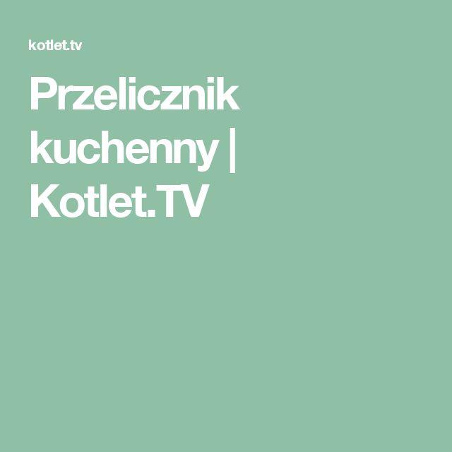 Przelicznik kuchenny   Kotlet.TV
