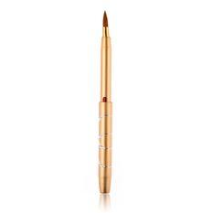 5pcs Portable Retractable Lip Brush Makeup Cosmetic Lipstick Brush Gold (Intl)