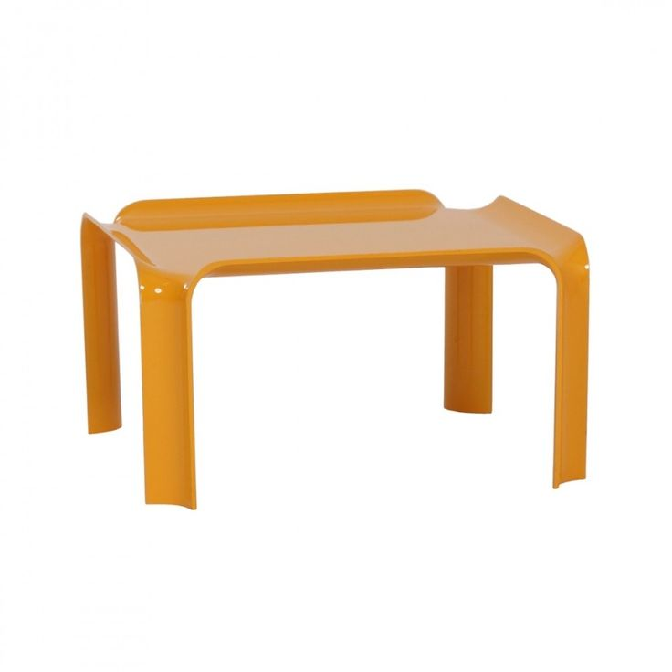 Small Yellow Coffee Table 877 by Pierre Paulin for Artifort, 1970