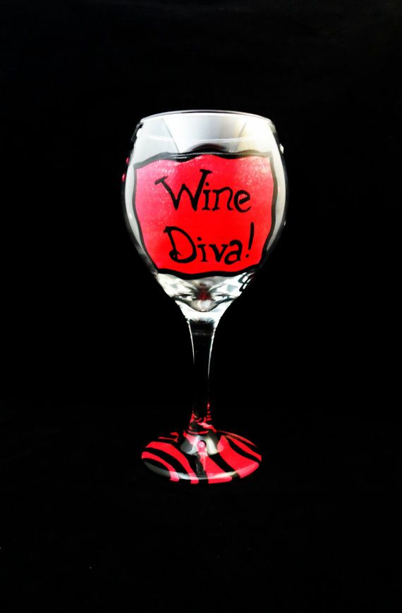 Best wine glass painting images on pinterest nascar