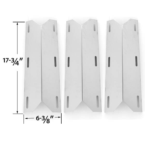 3 PACK REPLACEMENT STAINLESS STEEL HEAT PLATE FOR JENN-AIR, KOBLENZ P-800, MEMBER'S MARK 720-0582, NEXGRILL, SAMS 720-0586A, STERLING FORGE CHATEAU 3304 & LOWES GAS GRILL MODELS Fits Compatible Jenn-Air Models : 420-0032, 720-0061, 720-0061-LP, 720-0062, 720-0062-LP, 720-0063, 720-0063-LP, 720-0077, 720-0077-LP, 720-0094, 720-0099, 720-0099-NG, 720-0100-NG, 720-0101, 720-0101-NG Read More @http://www.grillpartszone.com/shopexd.asp?id=33732&sid=23770