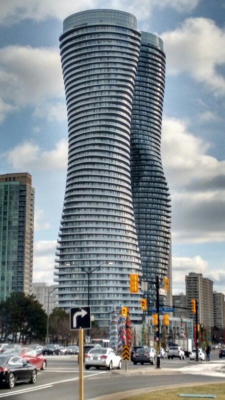 2 towers in Mississauga, near Toronto, Canada