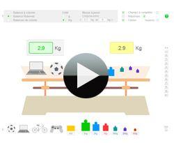 Balance didactique interactive pour apprendre à peser
