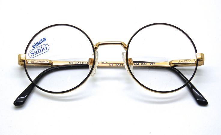 The Old Glasses Shop - True Round Gold And Black Glasses From Safilo With Sprung Hinges, £99.00 (http://www.theoldglassesshop.co.uk/true-round-gold-and-black-glasses-from-safilo-with-sprung-hinges/)