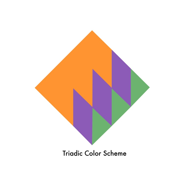 triadic color scheme this occurs when colors that are evenly spaced